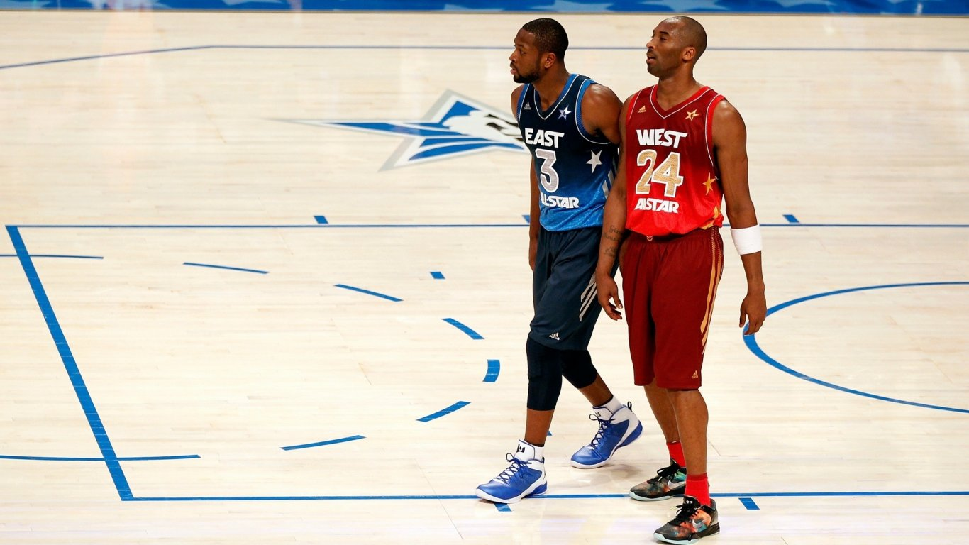 体育桌面壁纸 体育壁纸 NBA壁纸 全明星壁纸 科比壁纸 韦德壁纸 MVP图片