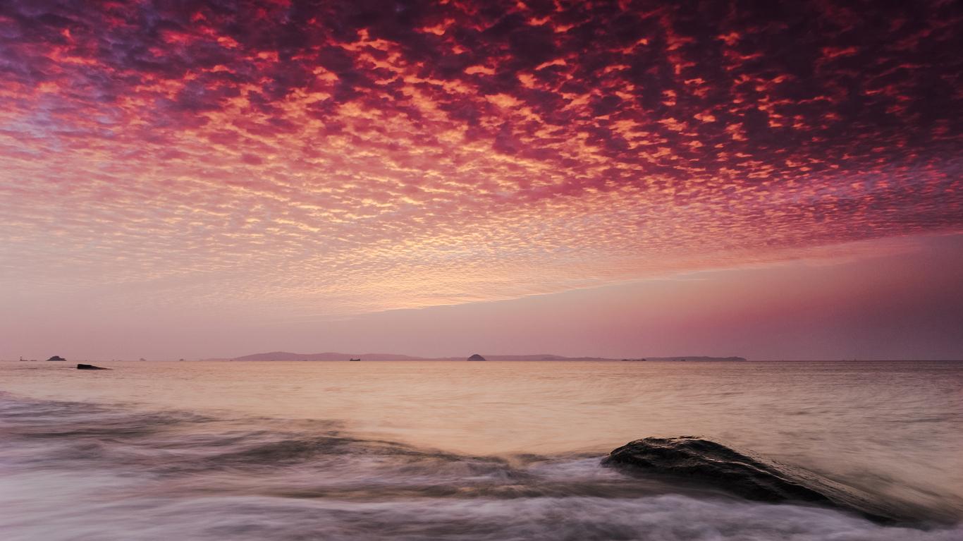 风景桌面壁纸_福建海岸壁纸_日出日落壁纸_高清壁纸