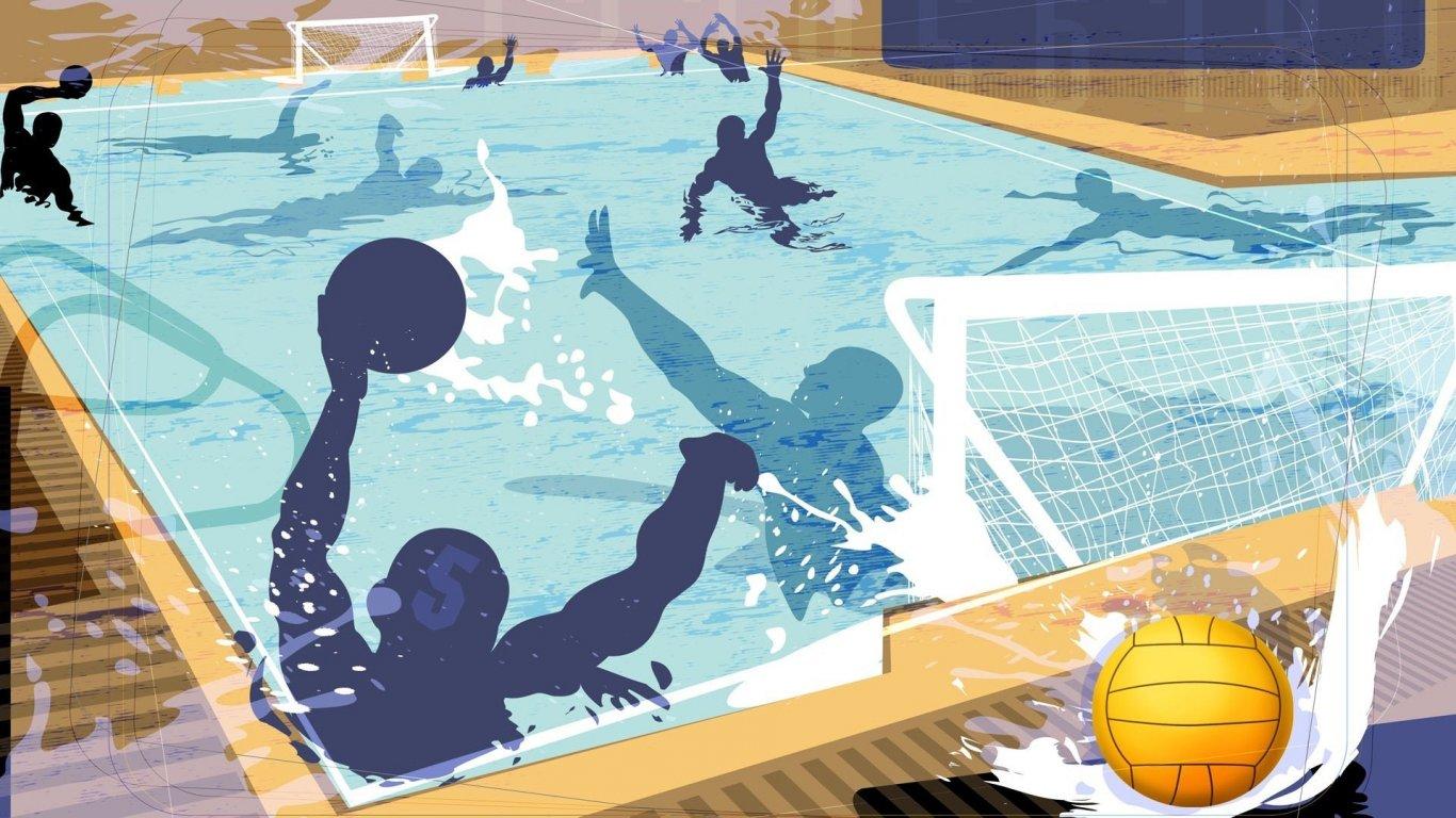 体育桌面壁纸_体育壁纸_奥运项目壁纸_手绘壁纸_水球