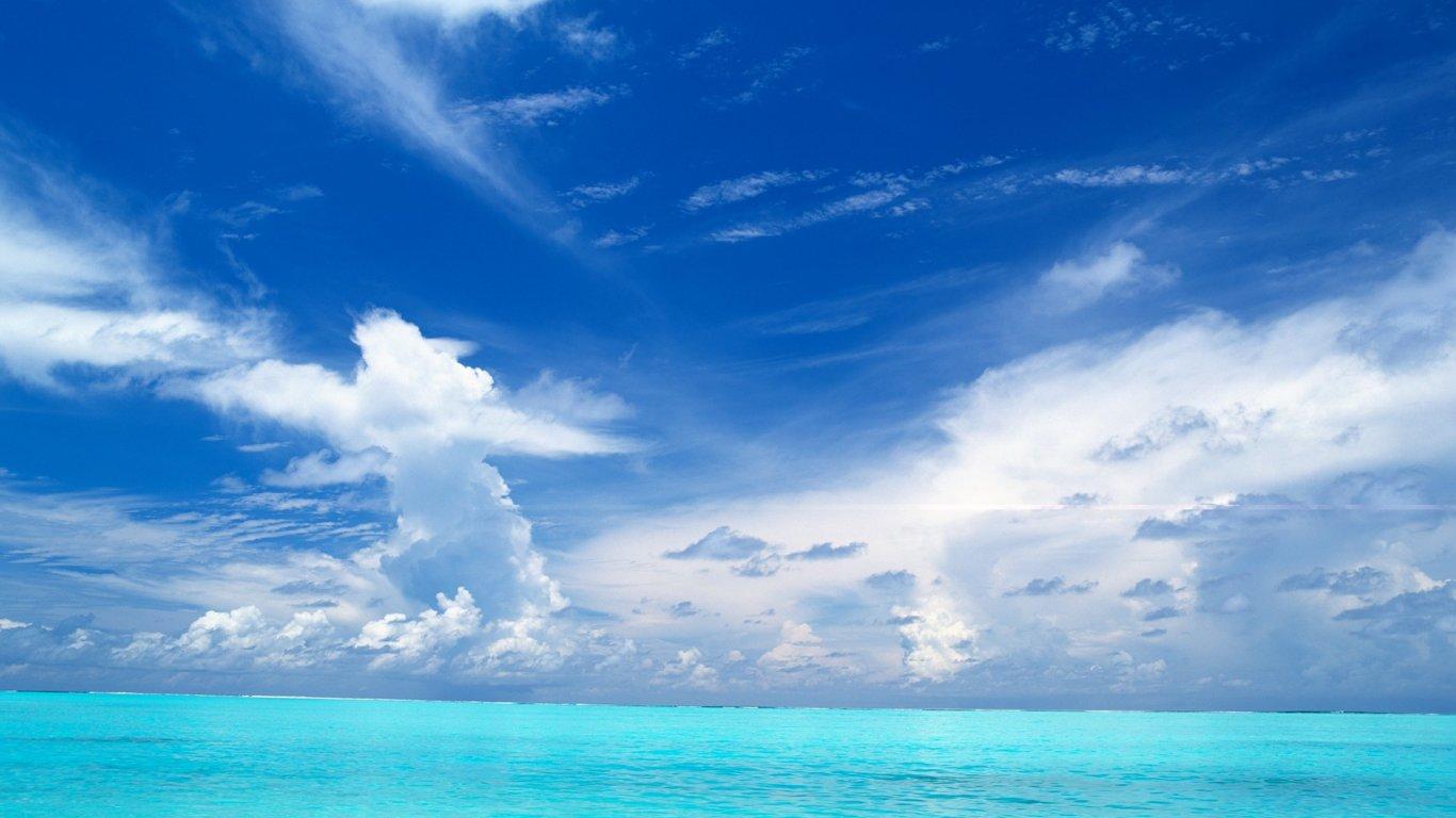 创意桌面壁纸_小清新壁纸_清新淡雅壁纸_蓝天白云壁纸